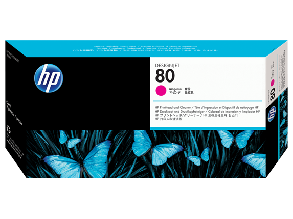 HP 80 Magenta Printhead and Printhead Cleaner C4822A