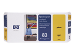 HP 83 UV Yellow Printhead and Printhead Cleaner C4963A