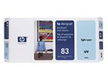 HP 83 UV Light Cyan Printhead and Printhead Cleaner C4964A