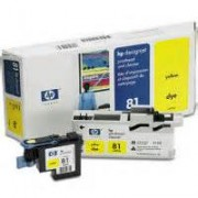 HP 81 Dye Yellow Printhead and Printhead Cleaner C4953A